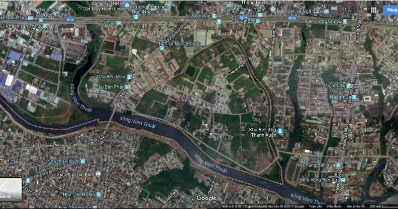 Bán-Sang-Nhượng Dự Án sông Bến Cát-Tô Ngọc Vân-Phường 15-Gò Vấp-tp.HCM dt: 1,35 ha (hecta/mẫu))